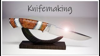 Knifemaking - Hidden tang with curved guard and awsome handle