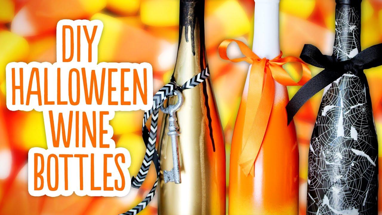diy halloween wine bottles  u0026 spooky background