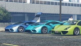 INSANE GTA 5 ONLINE CAR MEET Carbon And Bright Colors