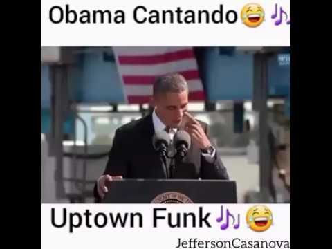 Obama cantando Uptown Funk