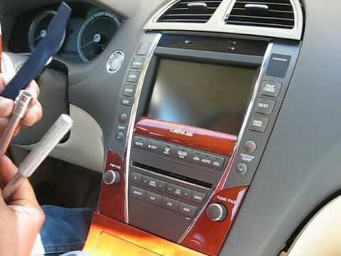 How To Remove Radio Navigation Display Cd Changer