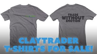 ClayTrader T-Shirts for Sale! $19.97
