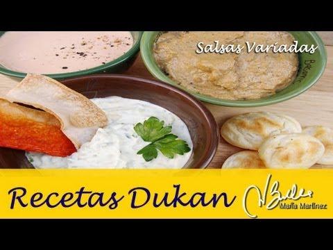 Salsas Dukan de Aperitivo (fase Ataque) / Dukan Diet Lowcarb Dips and Spreads