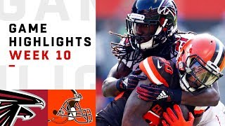 Falcons vs Browns Week 10 Highlights | NFL 2018