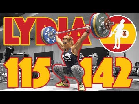 Lydia Valentin Heavy Training Part 1/5 (115kg Snatch 142kg Clean and Jerk) - 2017 WWC [4k 60]