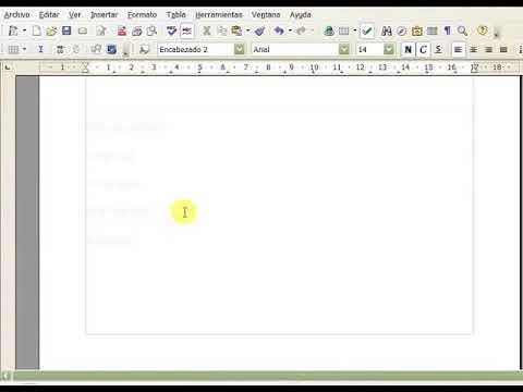 Generar indice de contenido usando OpenOffice