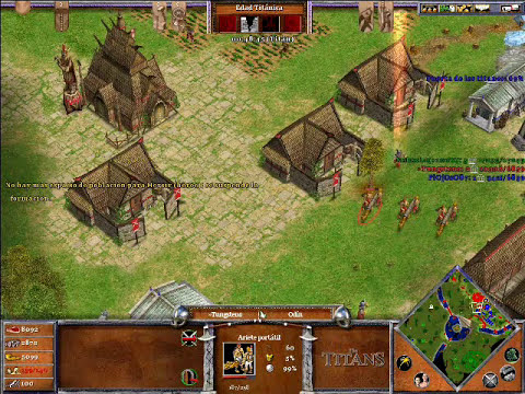 Age of Mythology The Titans ONLINE x Hamachi: Odin & Hades VS Ra (CPU Titan) - Parte 3/5