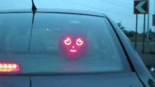 Drivemocion - animated car face sign