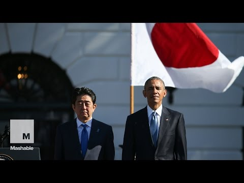 President Obama thanks Japan's prime minister for karaoke, anime and emoji | Mashable