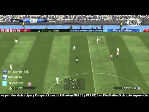 PES 2015 : Champions con el Real Madrid vs Atletico - 4tos de Final - IDA @ PS3