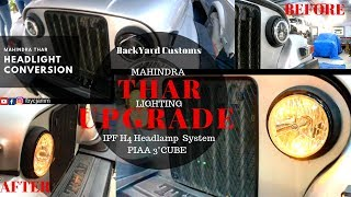 MAHINDRA THAR   HOW TO INSTALL THE BEST LIGHT(s) SET UP WITHOUT BLINDING OTHERS   BYC JAMMU