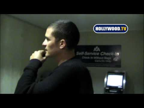 Orlando Bloom Arrives At LAX Friday Night