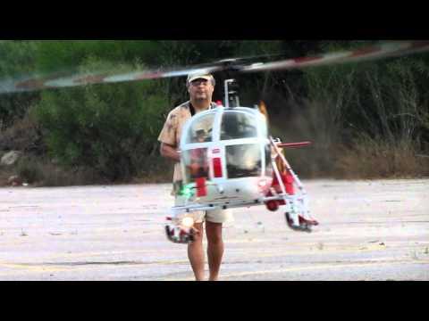 Vario Lama SA315B Turbine Rc Helicopter-Jojo Flying.