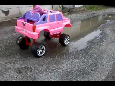 power wheels; barbie; lifted; escalade.