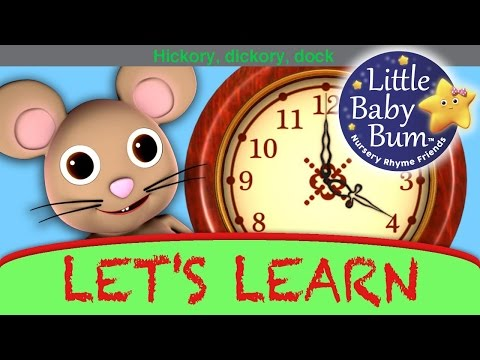 Let's Learn hickory Dickory Dock! With Little Baby Bum video
