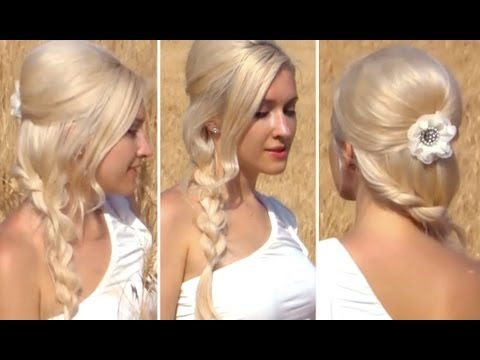 Prom, Wedding, Valentine's Day Hairstyle For Long Hair Romantic Rope Braid Tutorial