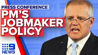 Breaking News: Scott Morrison announces JobMaker policy | Nine News Australia