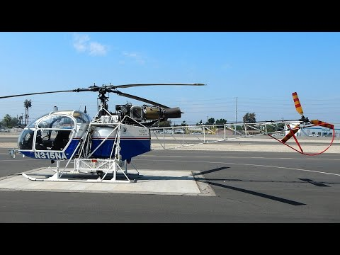 Here's some video of a beautiful 1978 Aerospatiale SA 315B Lama N315NA S/N 2506 that I shot at Whiteman Airport in California. Engine Manufacturer TURBOMECA Engine Model ARTOUSTEIIIB1...