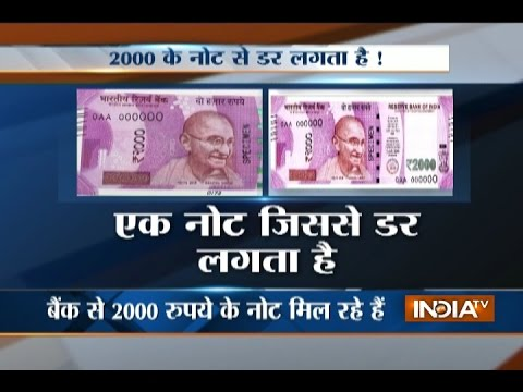 Watch: People Fearing to Take Rs 2000 Notes Offered by Customers