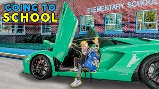 GOING TO SCHOOL IN A LAMBORGHINI! | The Royalty Family