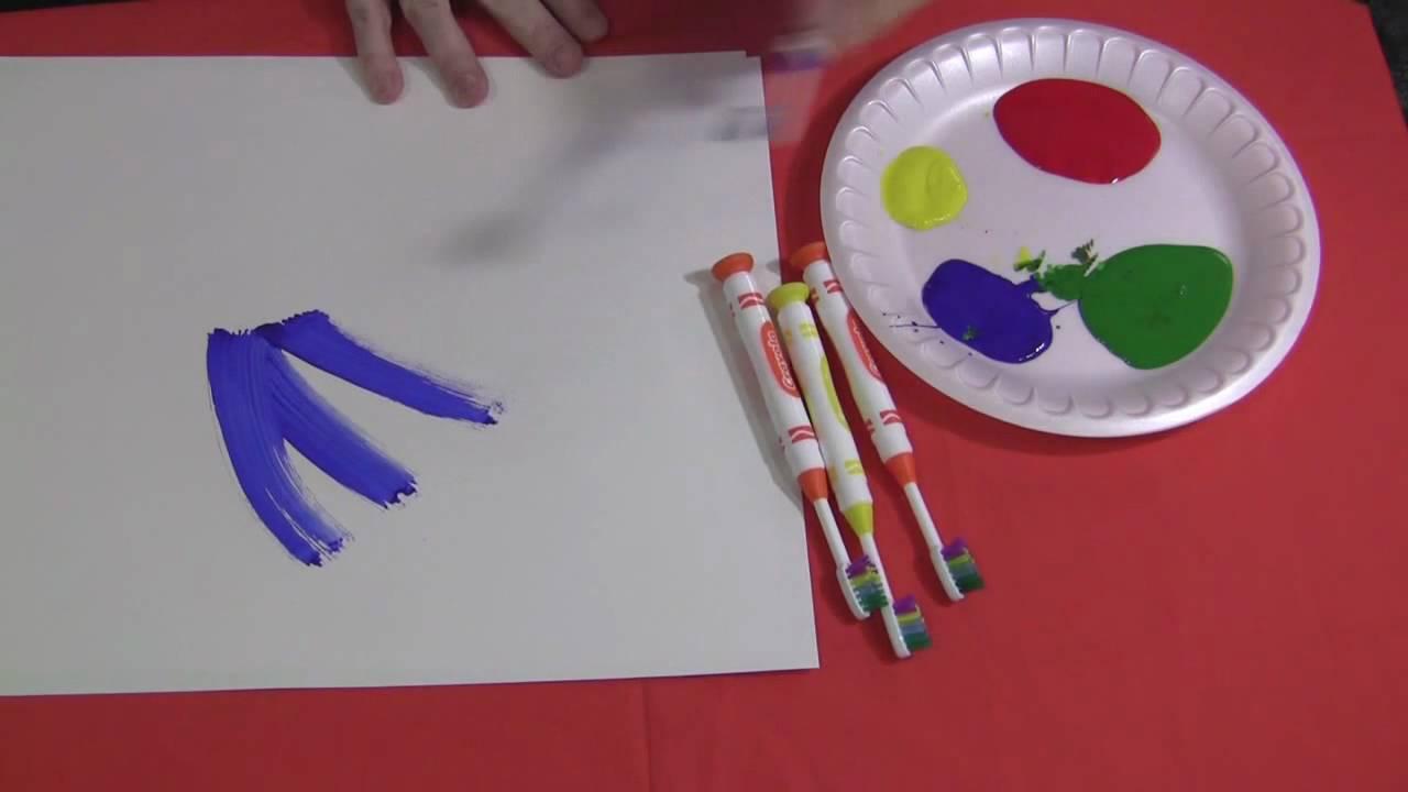 Children Brush Painting