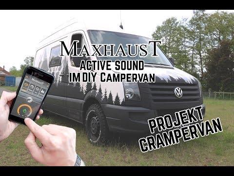 Maxhaust Active Sound im DIY VW Crafter Campervan