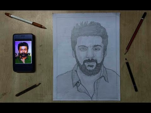 how to draw  tamil actor surya | surya drawing tamil
