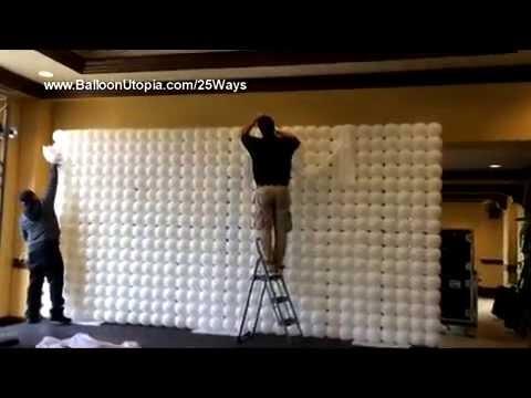 Make Balloon Backdrops How to Make a Balloon Wall