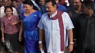 Rajapaksa, Maithri cast their ballots