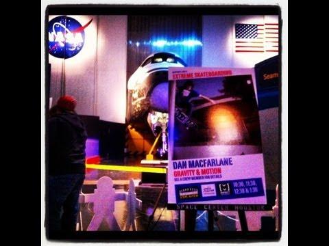 Dan MacFarlane NASA Space Center Houston Skateboarding Demos 2012