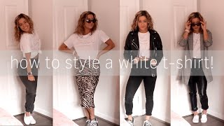 10 ways to style a white t-shirt! | spring outfit ideas 2020