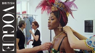 Behind The Scenes Of The Alta Moda Show With Naomi Campbell | British Vogue