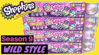 Shopkins Season 9 Wild Style 20 Mega Pack Toy Review Unboxing Newest Shopkins