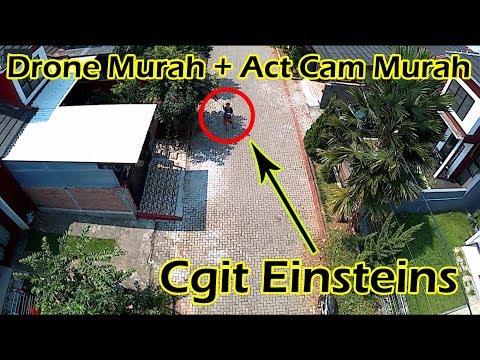 Drone Murah 1,2 Jutaan Action Cam 400 Ribuan Bisa Lihat Genteng Bocor :D