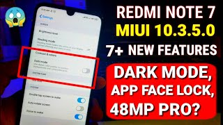 Redmi note 7 Miui 10.3.5.0 new update | 7 New features | Miui 10.3.5.0 for Redmi Note 7