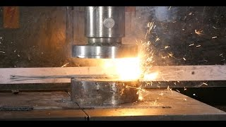 Crushing Sparklers With Hydraulic Press