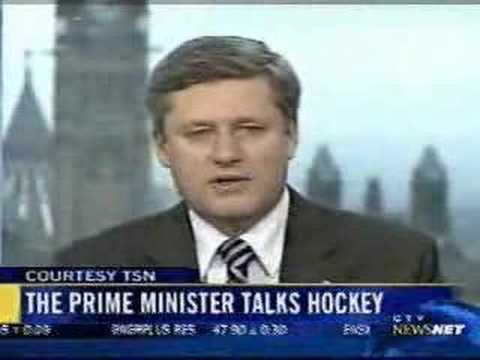 Stephen Harper talks hockey
