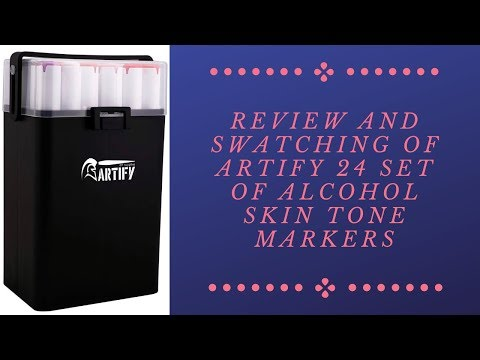 Unboxing and Review of Artify 24 Set of Skin Tone Alcohol Markers