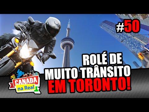 Rolé de muito trânsito em Toronto   CANADA NA REAL