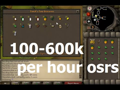 Runescape 100-600k per hour money making guide osrs 07 classic
