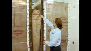 AirBag Removal :: Logistick demonstrates proper installation and use of air bag products for securing freight loads. www.logistick.com.