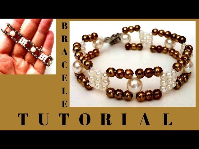 beading tutorial for beginners.  diy bracelet.  easy beading pattern