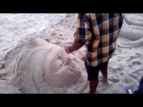 How To Create Sand Sculpture Live HD Video