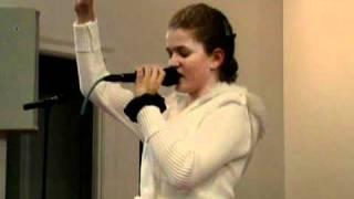 """McKenzie George sings """" Between twelve and thirty-three """""""