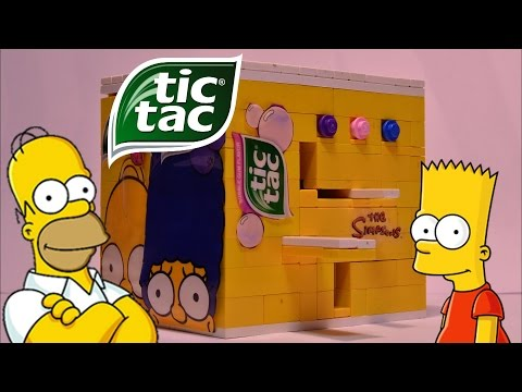 Lego TicTac Machine (Simpsons Edition) 3 Options