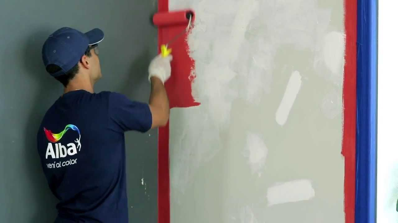 Tutorial c mo pintar 6 cielo rasos y paredes de - Como pintar las paredes ...