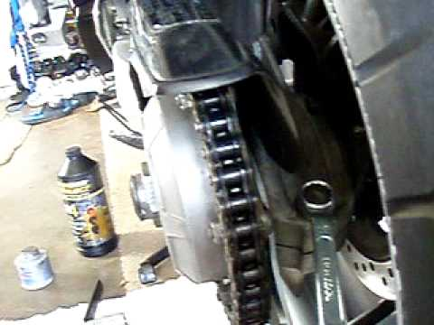 Single side swing arm chain adjustment vfr honda