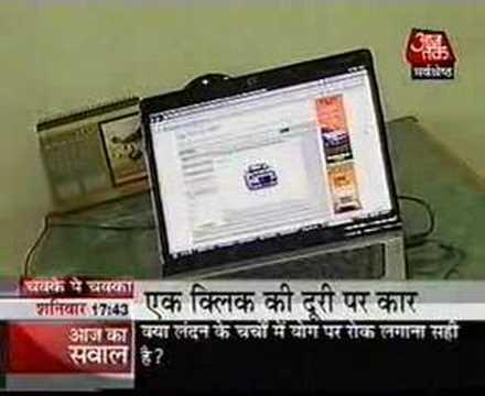 Carazoo.com on AAJ-TAK Hindi TV News Channel