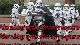 Disney World March of the First Order: Marching with Stormtroopers!!