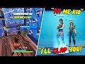 "I put ""1V1 ME"" in my Fortnite name and Danced on Every Kill (TOXIC)"